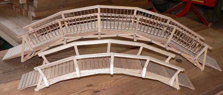 simple bridge drawings | Plan for a 30cm bridge