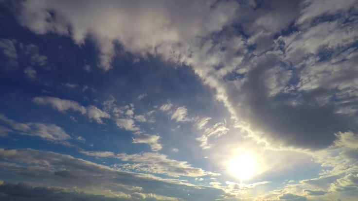 FREE HD video backgrounds – GoPro Hero 4 free raw footage sky with puffy...