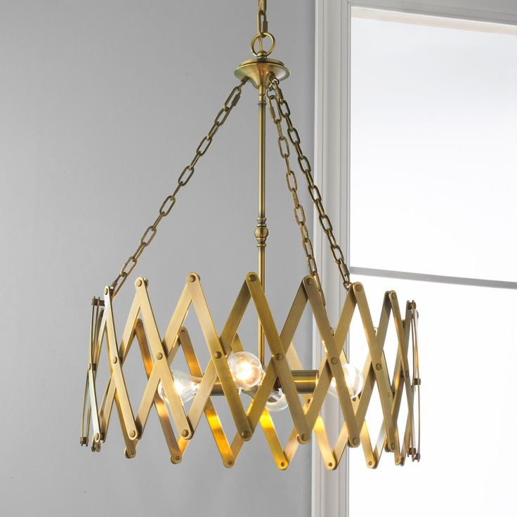 Accordion ChandelierLooking For Alternatives To The Traditional Candle Chandelier Lines And Circle Shape