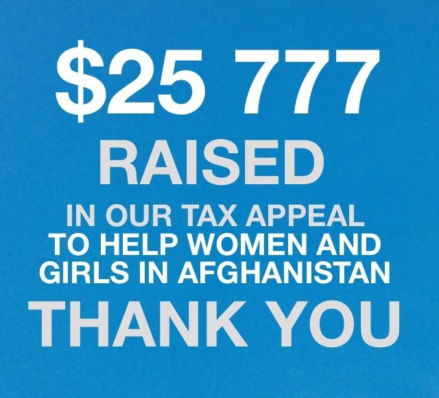Our Women on the Frontline Tax Appeal was a great success - you can continue to support the work of UN Women in Afghanistan here https://secure4.everydayhero.com.au/event/unwomendonate/donate