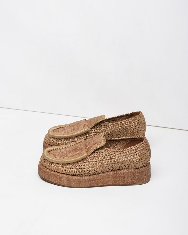 Acne Studios Laurie Raffia Penny Loafer