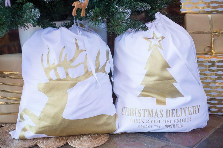 Gold Santa sacks
