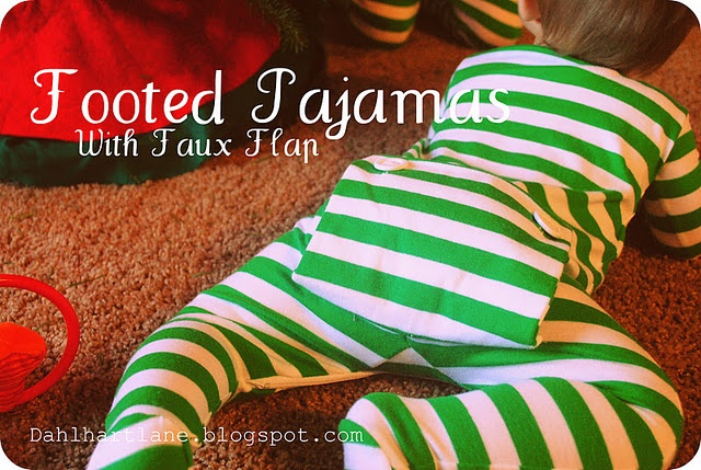 Little footed PJ with Faux Flap Tutorial by Dahlhart Lane. Not truly a refashion but it could be.