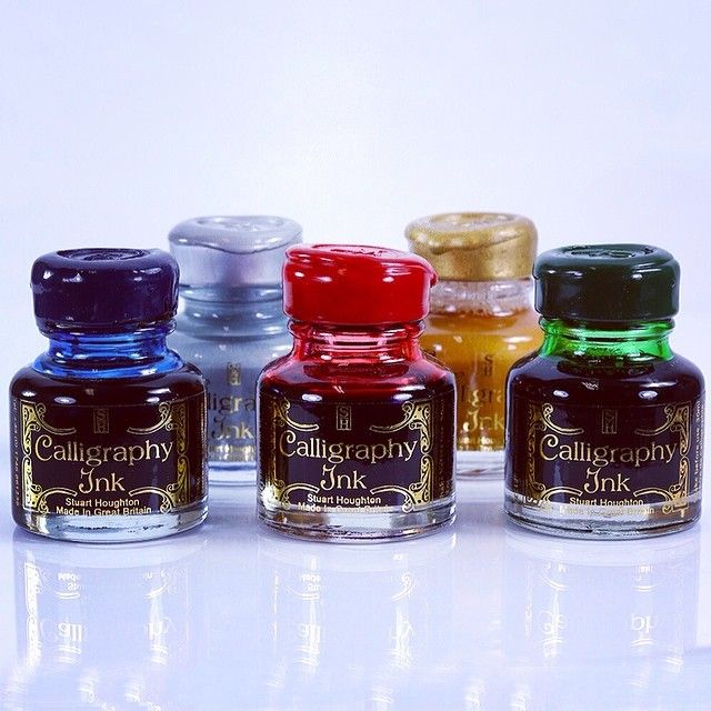 Combine these vibrant calligraphy inks with a quill to create an elegant writing set! #calligraphy #writing #ink