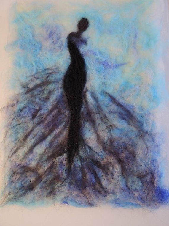Картина из шерсти Грация. На стену. Праздник. Подарок. от Anniiko