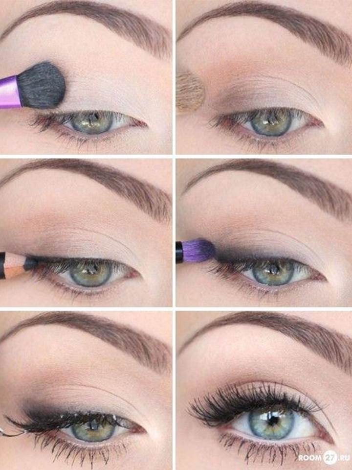 Natural look eye shadow