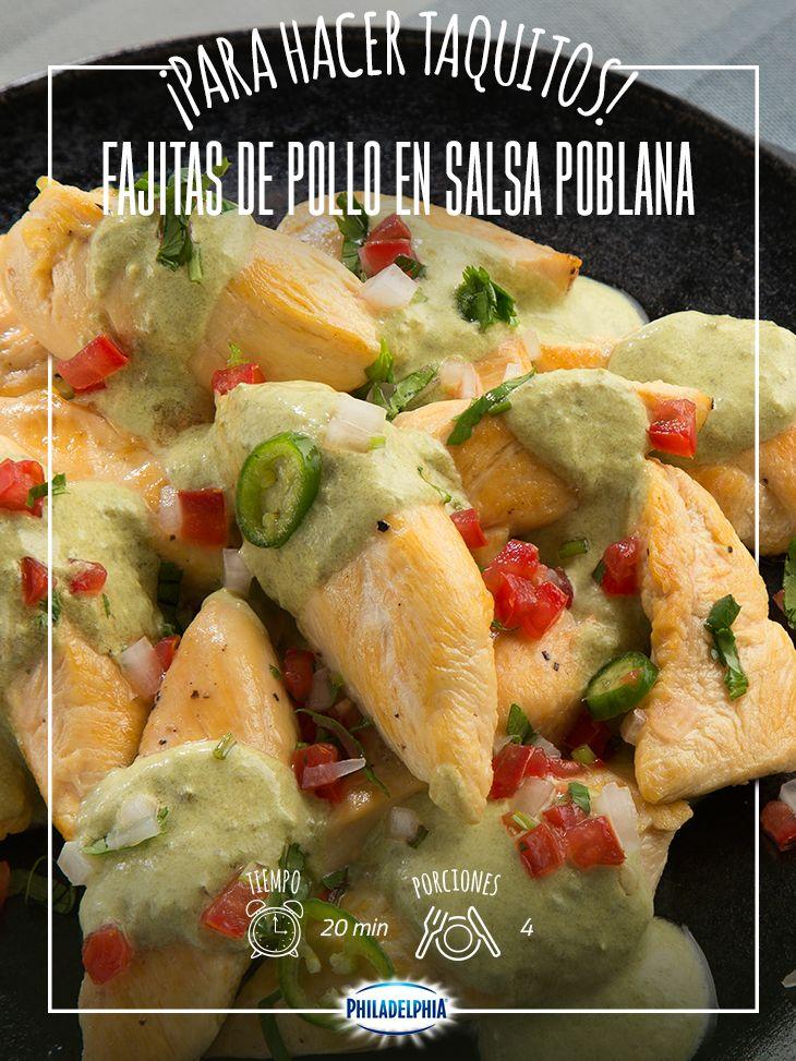 Llena tus días de sabor con estas Fajitas de pollo.   #recetas #quesophiladelphia  #quesocrema #philadelphia #fajitas #pollo