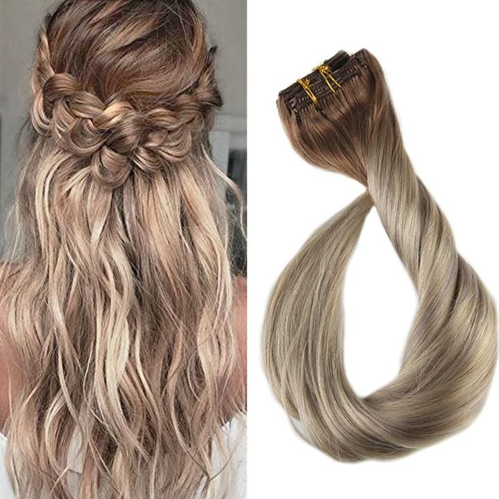 Lowest Price Ever!!! (Buy 2 get 1 free) Clip in Extensions 100% Remy Human Hair 7 Pieces Ombre Balayage (5/18/24)