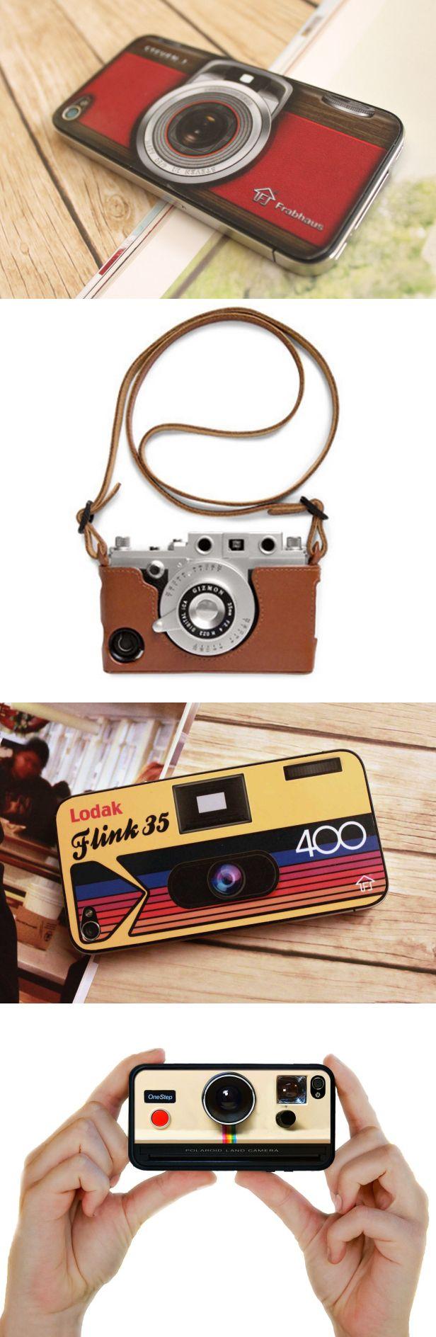 Los amantes de la fotografía serían felices con alguna de estas fundas en sus celulares.