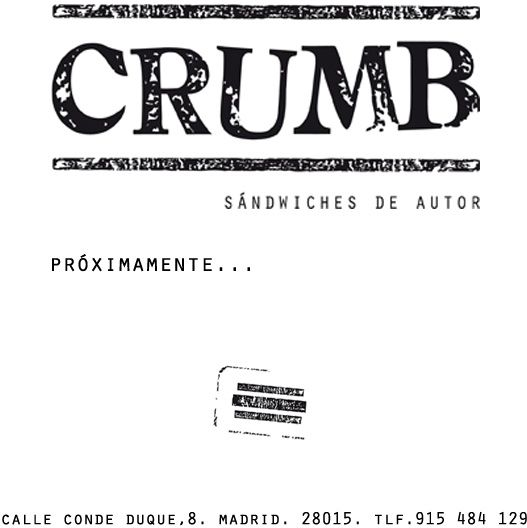 Crumb - Sándwiches de autor- Calle Conde Duque, 8, Madrid
