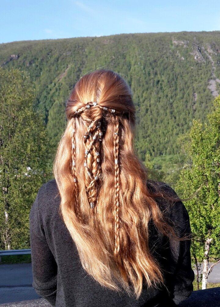 Viking Braids, Shieldmaiden Hairstyle by Anne The Archer                                                                                                                                                                                 More
