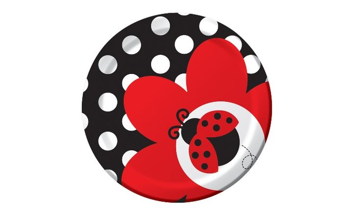 Ladybug Lunch Plate - 8 Pack