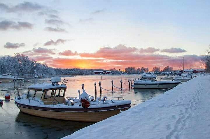 Uusikaupunki winter finland