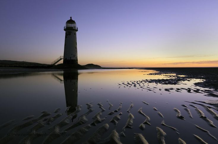 """""""Sunset at Point of Ayr Lighthouse"""" by raymond.mcbride.50"""