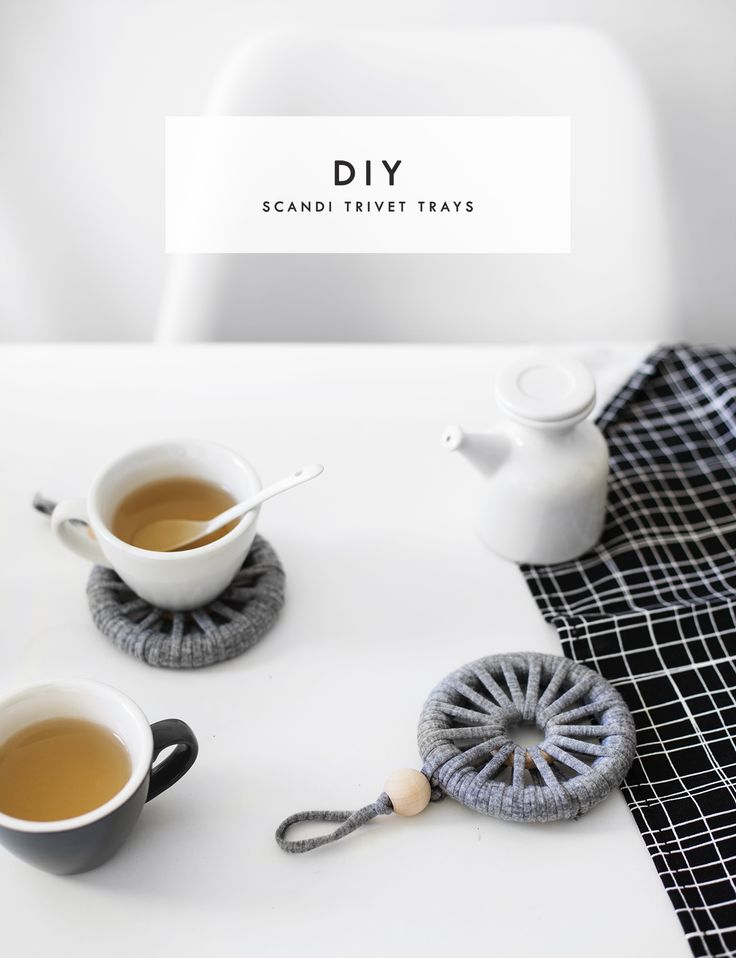 DIY Scandinavian Trivet Trays Tutorial