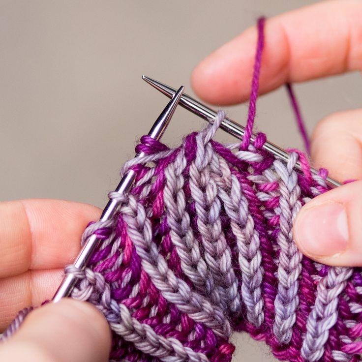 Knitting Yarn Over Stitch : Best images about brioche stitch on pinterest free