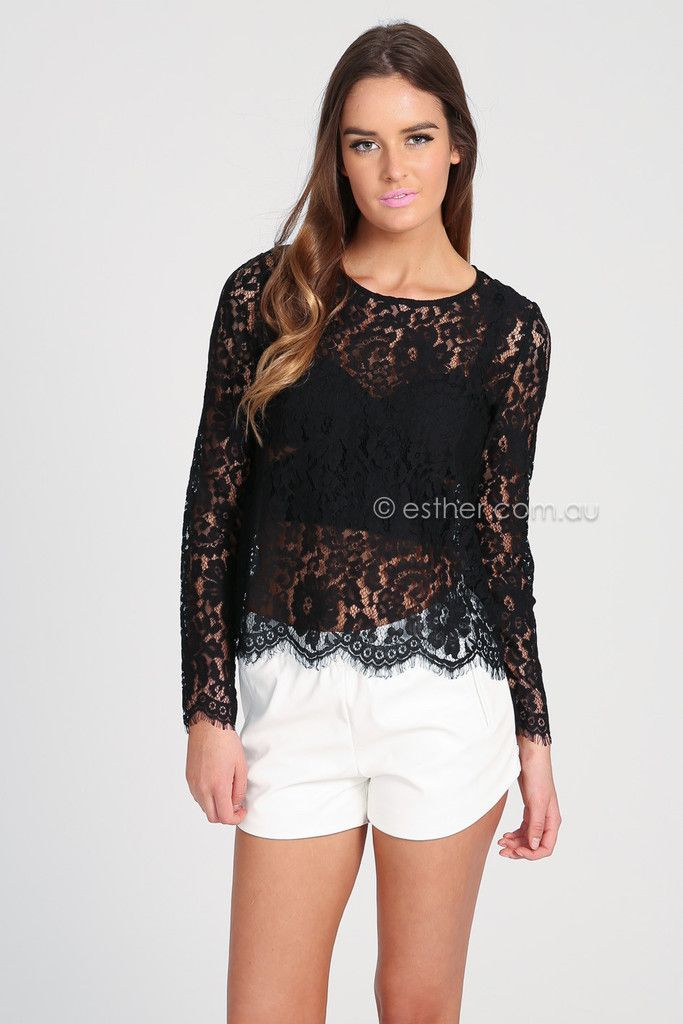 Top Black Fashion Designers pria lace top black Esther
