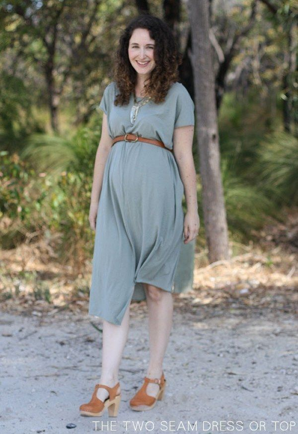 Sew a two-seam maternity dress. | 31 DIY Projects That Will Make Pregnancy So Much Easier
