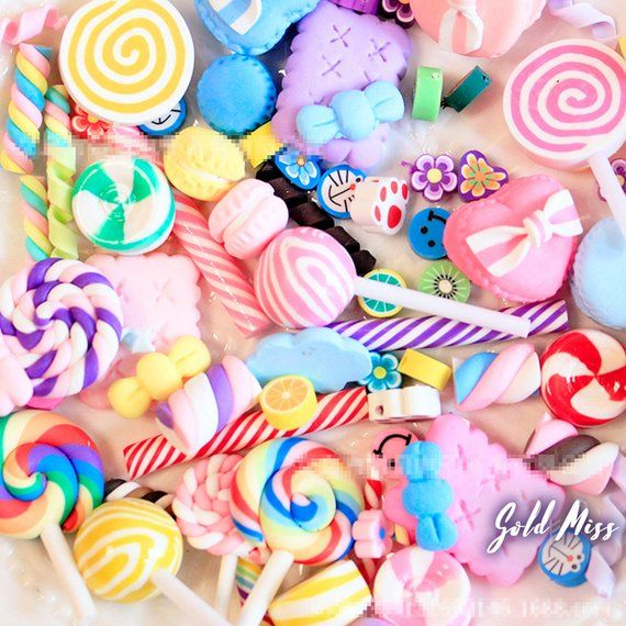 50 Pcs Unicorn Slime Charms for Handmade DIY Crafts Decoration