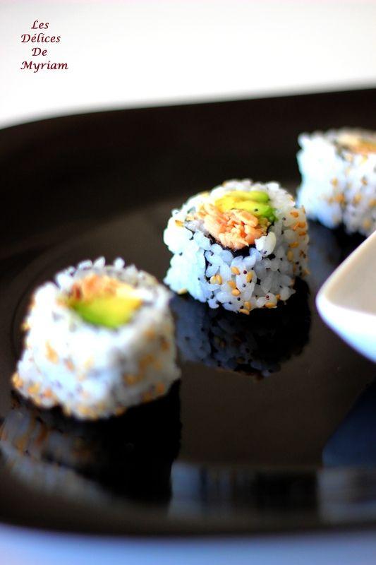 Maki et california rolls (recette riz inclus)