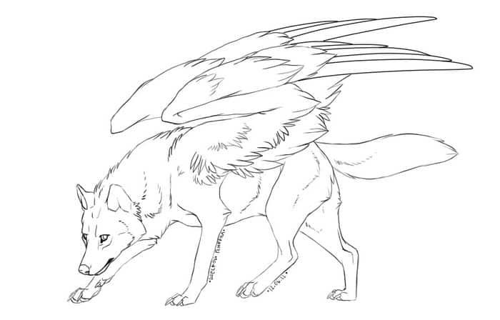 Coloring Pages Wolves With Wings Printable Animal Coloring Pages Deer Coloring Pages Moon Coloring Pages
