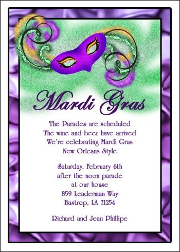 56 Best Mardi Gras Invitations Images On Pinterest | Holiday Party