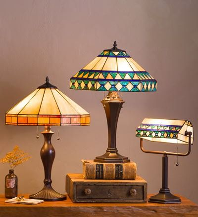 Add distinctive lighting to your décor with our Tiffany-style stained glass  table lamps and floor lamps. Gorgeous!