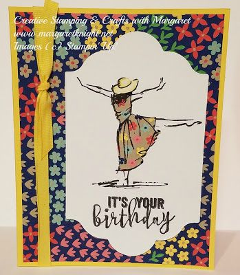 Birthday Card using Stampin' Up! Beautiful You stamp set and Affectionately Yours Designer Series Paper