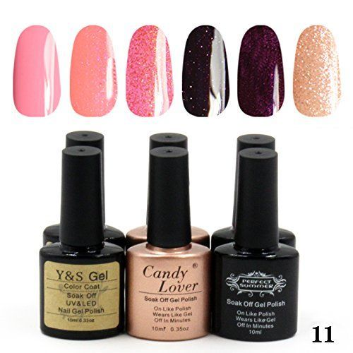 Great Sales! Three Different Brands Gel Nail Polish 10 ml Richful Colors Gel Nail Set