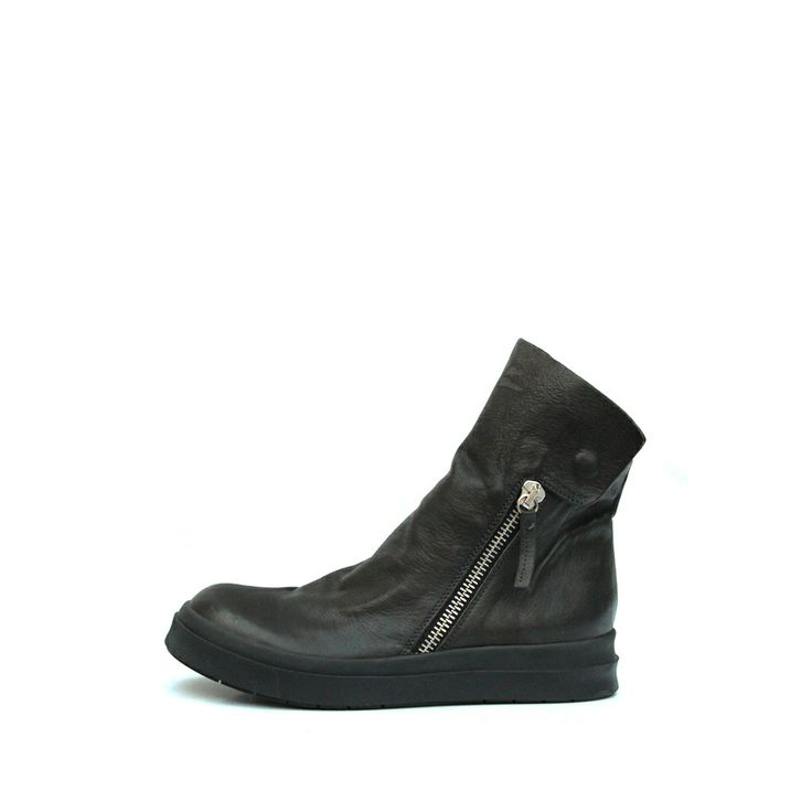 CINZIA ARAIA HANDMADE LEATHER SIDE ZIP SNEAKER