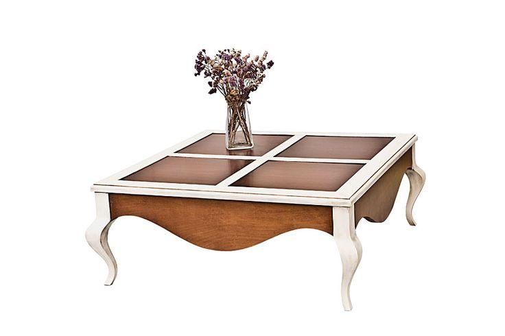 Existe la posibilidad de realizar el mueble en diferente color de acabado, ver imagen de galeria Acabado en blanco rozado con tonalidad en cerezo Centro,Fiona,Mesa,Vintage... Eur:970 / $1290.1