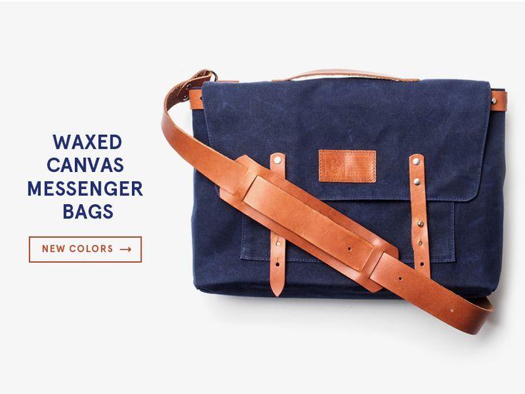 Navy Messenger Bags