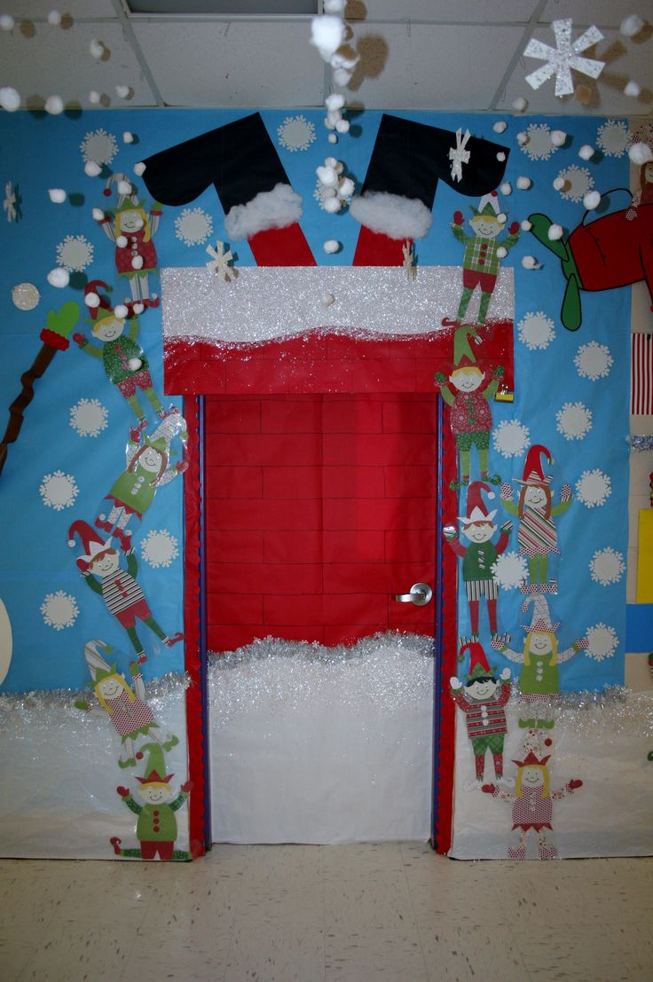 santa stuck classroom door decoration image only