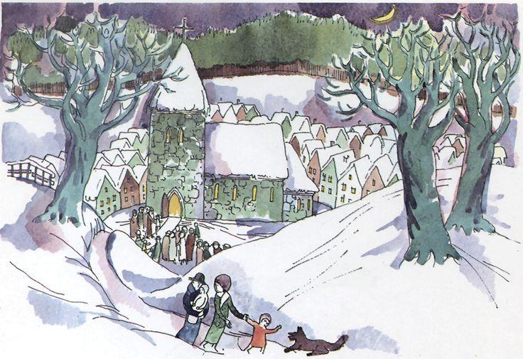 ERASMUS GRUB - Federal Republic of Germany / República Federal de Alemania - Village in Snow / Pueblo bajo la nieve