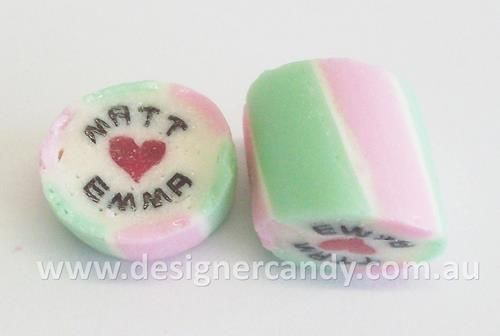 Design your own custom made Designer Wedding Candy! The Designer Wedding Candy with personalised names inside the candy adds a personal touch to your wedding day and is the perfect way to incorporate your colour theme and impress your guests. The ultimate in customisation for your bomboniere! Visit www.designercandy... for more information! #designercandy #weddingcandy #bomboniere #favours #weddingfavours #wedding #candy #rockcandy #gifts #personalisedgifts #personalisedfavours #candybar