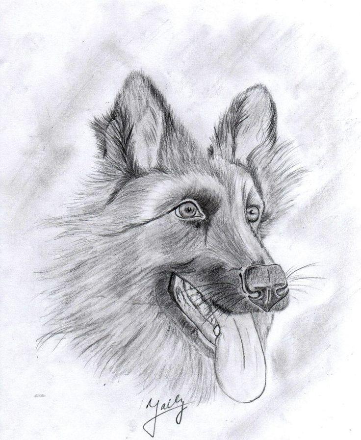 happy dog drawing
