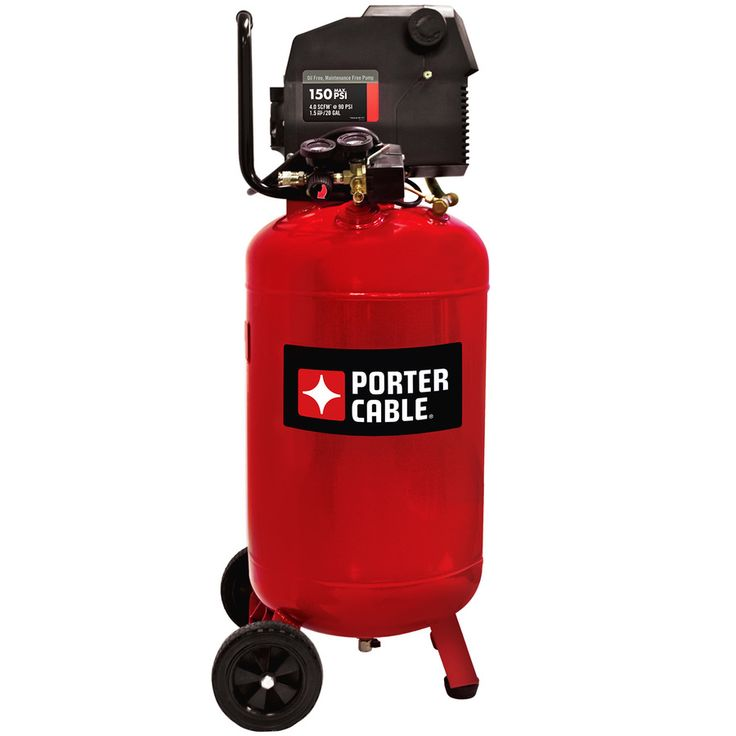 PORTER-CABLE 1.5-HP 20-Gallon 150-PSI 120-Volt Vertical Portable Electric Air Compressor