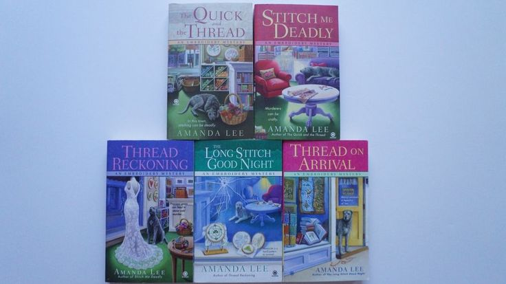 Amanda Lee 5 Book Lot Embroidery Mystery Series Cozy Female Sleuth #AmandaLee #Books #EmbroideryMysterySeries #Cozy #FemaleSleuth #Female #Sleuth #CozyMystery #MysterySeries #mystery #Embroidery #series