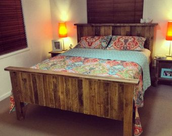 pallet furniture etsy. rustic pallet queen bed by palletlifeaustralia on etsy furniture p