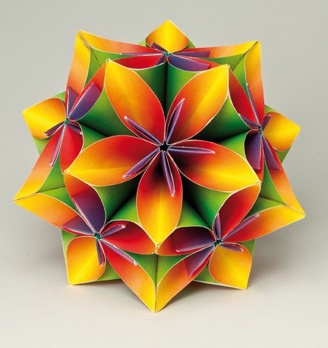 360 best images about Origami  Kusadama Fun on Pinterest  Geometric