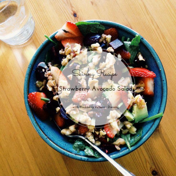 Strawberry Avocado Salad with Blackberry Balsamic Dressing | Recipe
