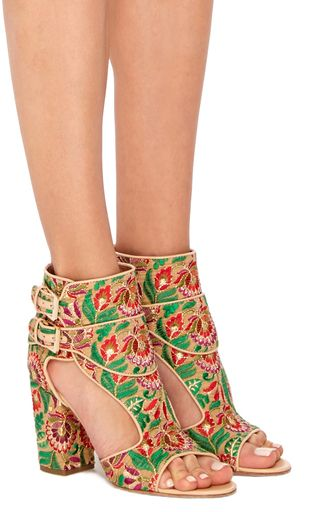 Rush Boheme Embroidered Sandals  by LAURENCE DACADE Now Available on Moda Operandi