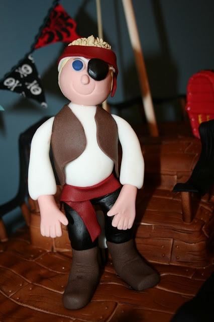 cutebugdesigns: Pirate Fondant Figure