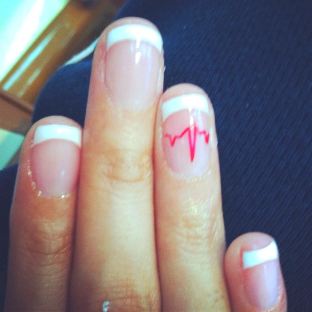 EKG nails for when I graduate from the nursing program :)
