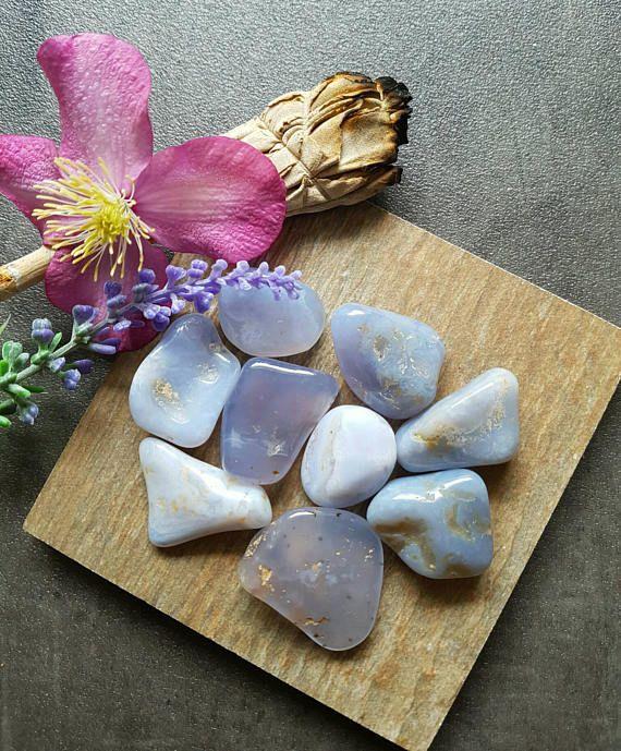 Blue Chalcedony - Chalcedony - Blue Chalcedony Tumblestone - Tumbled Blue Chalcedony