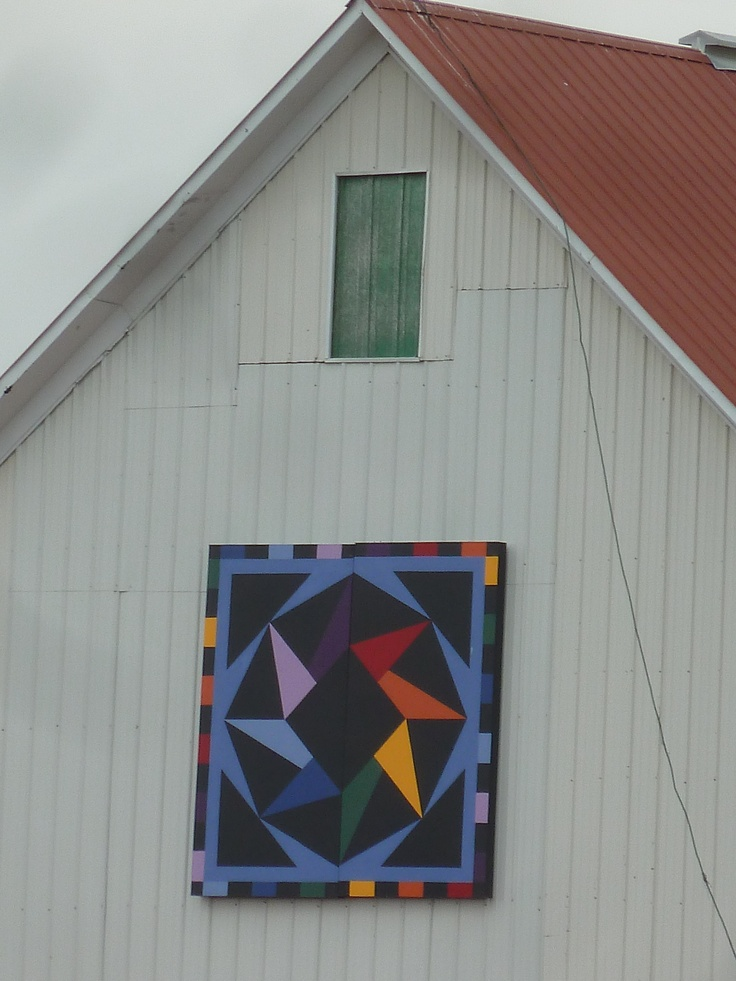 Kankakee Barn Quilt Rolling Star In Peotone Il F 228 Rg