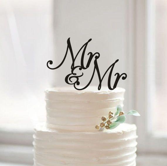 Rustic Mr & Mr Cake Topper