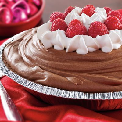 Chocolate Raspberry Mousse Pie (Easy; 8 servings) #chocolate #raspberry #mousse