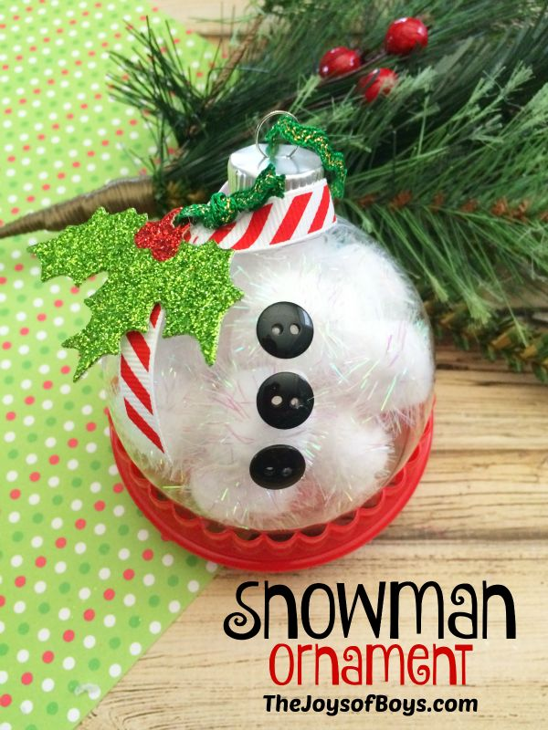Snowman Ornaments Christmas Ornaments To MakeSnowman