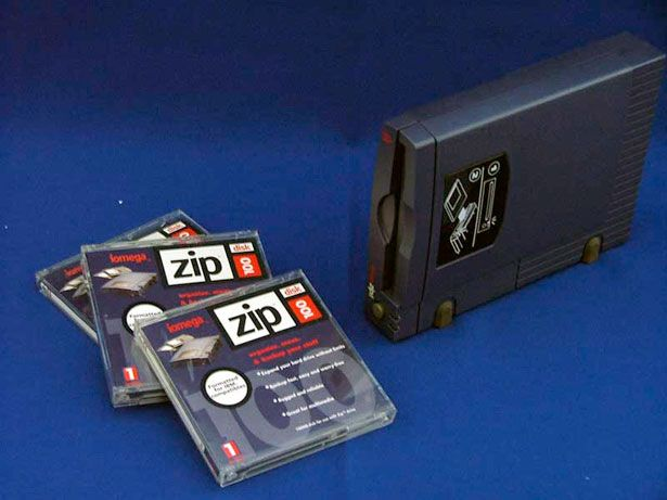 Zip drive this short lived technology was the bridge between 3 5